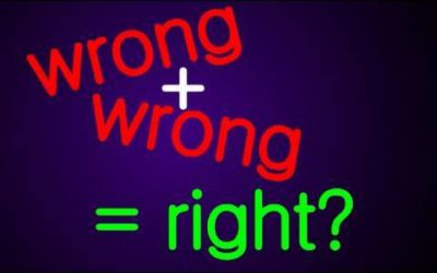 Two wrongs, make a right?