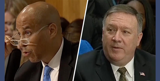 Booker and Pompeo: The Left's Blindspot between Morality and Legality